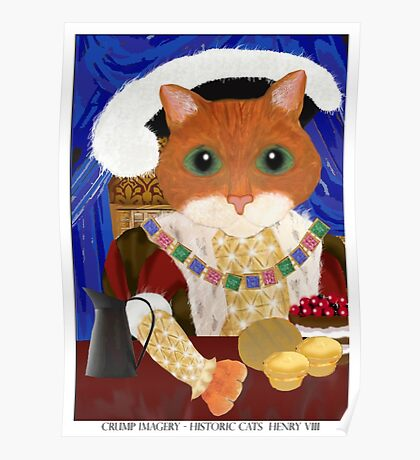 Historic Cats - Henry VIII Poster