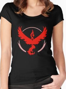 Team Valor (Bold) Women's Fitted Scoop T-Shirt