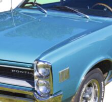 Blue 1966 Pointiac Lemans Sticker