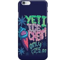 Yeti Ice Cream iPhone Case/Skin