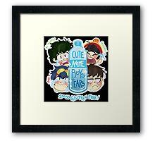 Cute Anime Boys Tears Framed Print