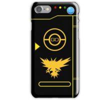 PokemonGO Alternate Team Instinct Themed Pokedex Case iPhone Case/Skin