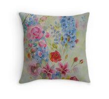 Summer bordure Throw Pillow