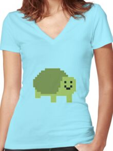 Unturned Turtle Women's Fitted V-Neck T-Shirt
