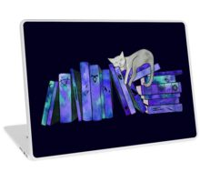FanGirl Bookshelf Purple Laptop Skin