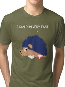 Blue Hedgehog Tri-blend T-Shirt