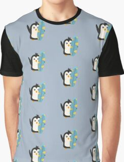 Surfboard Penguin   Graphic T-Shirt