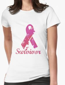 Breast Cancer Survivor  Womens Fitted T-Shirt