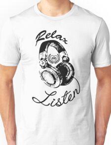 Music Relax and Listen Headphone Graphic Unisex T-Shirt