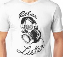 Music Relax and Listen Headphone Graphic Unisex T-Shirt