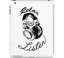 Music Relax and Listen Headphone Graphic iPad Case/Skin