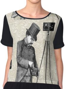 Victorian Steampunk Photographer Camera Chiffon Top