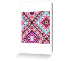 Pink & Purple Boho Diamond Geometric Pattern Greeting Card