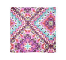 Pink & Purple Boho Diamond Geometric Pattern Scarf