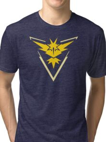 Pokemon GO Team Instinct   Team Yellow Tri-blend T-Shirt