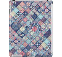 Pink & Blue Boho Patchwork Pattern iPad Case/Skin