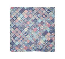 Pink & Blue Boho Patchwork Pattern Scarf