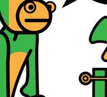 Green Monkey saying blah blah blah Sticker