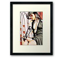 The lady Framed Print