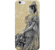 Victorian Steampunk Lady Bouquet Flowers iPhone Case/Skin