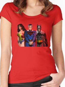 Superhero Trinity Women's Fitted Scoop T-Shirt