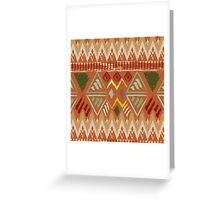 Brown Boho Tribal Pattern Greeting Card
