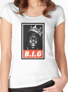 (MUSIC) Notorious Big Women's Fitted Scoop T-Shirt