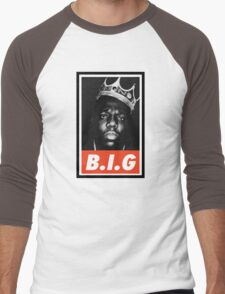 (MUSIC) Notorious Big Men's Baseball ¾ T-Shirt