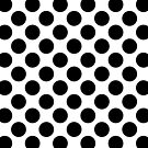 Large Black Polka Dots on a White Background by Natalie Kinnear