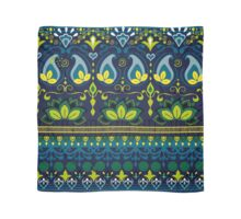 Blue & Green Boho Floral Pattern Scarf