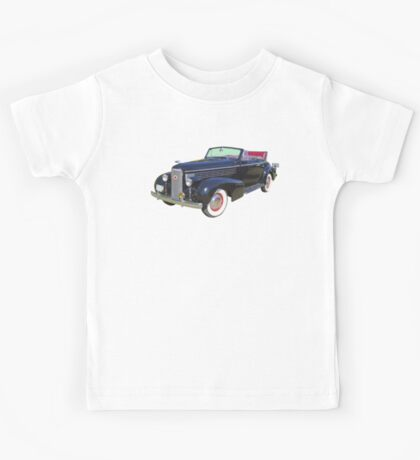 Black 1938 Cadillac Lasalle Antique Car Kids Tee
