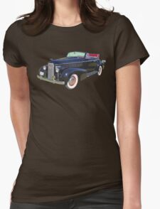 Black 1938 Cadillac Lasalle Antique Car Womens Fitted T-Shirt