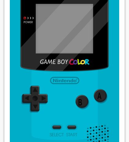 Gameboy Color 2.0 - Teal Sticker