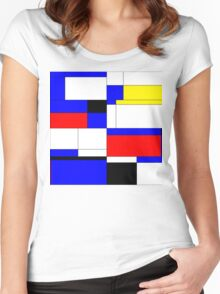 Abstract 9 Women's Fitted Scoop T-Shirt