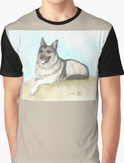 German Shepherd Dog Animal Art Peek Pets Graphic T-Shirt
