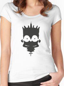 Inkblot Bart Women's Fitted Scoop T-Shirt