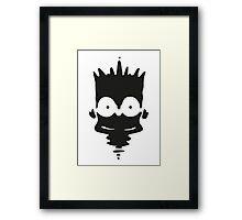 Inkblot Bart Framed Print