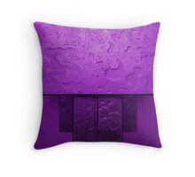 Wet Block Purple Throw Pillow