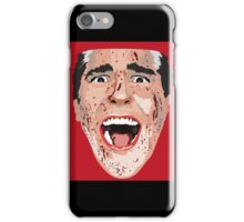 American Psycho Vector Portrait - Red iPhone Case/Skin