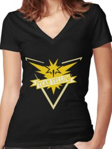 Team Yellow - Pokemon GO Women's Fitted V-Neck T-Shirt