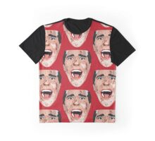 American Psycho Vector Portrait - Red Graphic T-Shirt