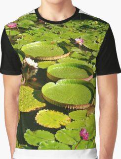 Chinese Lotus Flowers Graphic T-Shirt