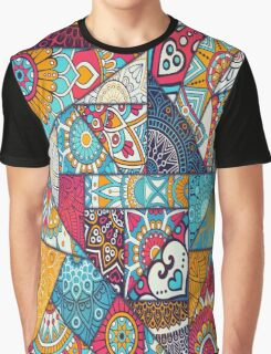 Boho Triangle Patchwork Pattern Graphic T-Shirt