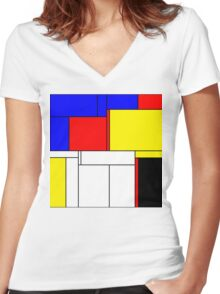 Abstract Art 14 Women's Fitted V-Neck T-Shirt
