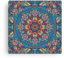 Colorful Boho Geometric Pattern Canvas Print