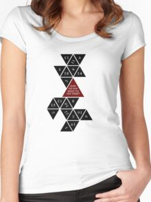 Flattened D20 - Dungeons and Dragons - Critical Role Fan Design Women's Fitted Scoop T-Shirt