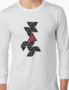 Flattened D20 - Dungeons and Dragons - Critical Role Fan Design Long Sleeve T-Shirt