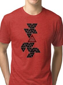 Flattened D20 - Dungeons and Dragons - Critical Role Fan Design Tri-blend T-Shirt