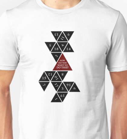 Flattened D20 - Dungeons and Dragons - Critical Role Fan Design Unisex T-Shirt