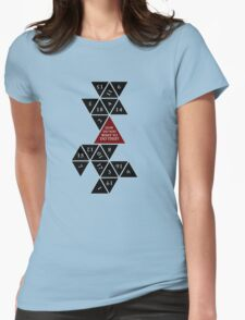 Flattened D20 - Dungeons and Dragons - Critical Role Fan Design Womens Fitted T-Shirt